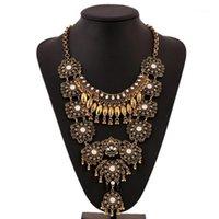 Colleghe Dilica Danna Maxi collane per le donne collana etnica bohémien vintage metallo nappa di nappa gioielli in metallo1