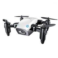 Drones s9hw mini drone caméra rc hélicoptère pliable altitude pliable tenue quadcoptère distante wifi fpv poche micro drron vs jd JY018 couleur plan1
