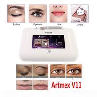 Máquina de tatuagem de maquiagem permanente profissional ArtMex V11 Eye Brow Lips Microblading Derma Caneta Microneedle Skin Care MTS PMU DHL