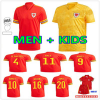 2021 Galles Soccer Jerseys National Team Home Away Bale James Ramsey Men Bambini Maillot de Football Shirts Allen Vokes Camiseta futol uniforme