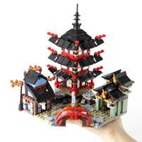 Ninja Temple of Dragon Boat Motorcycle Model Building Bricks Blokken Compatibel Lepining Ninjagoes Speelgoed Voor Kinderen Gift LJ200925