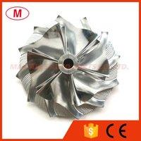 CT10 17291-0L020HF 42.87 / 62.00mm 6 + 6 Blades Turbo Billet Rueda de compresor / Rueda de fresado para 17201-0L020 Actualizar cartucho de turbocompresor