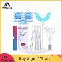 Kit de blanchiment des dents Light Blue Light Blanchiment dentaire Gel 16 LEDS Whiter Dents Blanchiment dents Stylos dents Dropits Système de blanchiment des dents