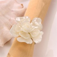 Таблица салфетки 4шт цветочные формы пряжки кольца для свадьбы праздник банкетный ужин декор mu1