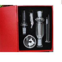10mm Joint Mini Nectar Collector Kit Micro NC Kits Glass Smoking Dab Straw Nector Collectors With Mouthpiece Titanium Tip
