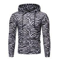 Мужские толстовки для толстовки мужские моды 3d Zebra Striped Print Hoodie Мужчины женщин Streetwear Hip Hop повседневная дурака