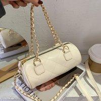 حقائب الكتف الأسطوانية المصممة للنساء 2020 أزياء حقائب اليد الصغيرة سلسلة حزام crossbody