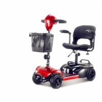 Älterer Roller-Vier-Rad-elektrischer älterer Haushalt Behinderte Fahrrad kleiner doppelt faltender Autobatterie1
