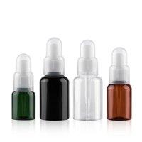 Tarjetas de almacenamiento Frascos 24 x 25 ml 35 ml 50 ml Botella de plástico Botella de aceite esencial, contenedor negro marrón verde Vial cosmético vacío