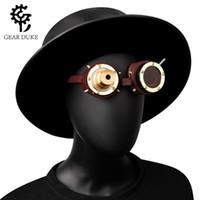 Máscaras de festa Gearduke Cosplay Vintage Victorian Rebite Steampunk Goggles Óculos Metal Cyber Gothic Freewholesale