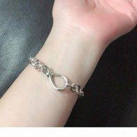 Yeni Tıknaz Infinity Düğüm Zincir Bilezik Kadınlar Kız Hediye Takı Pandroa Için 925 Ayar Gümüş El Zincir Bilezikler Ile Orijinal Kutusu
