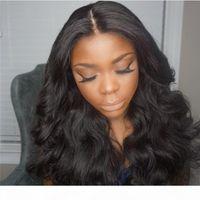 أعلى جودة خصم جميلة 100٪ غير المجهزة ريمي العذراء الشعر البشري طويل اللون الطبيعي الجسم موجة كاملة الدانتيل كاب لمة للنساء السود