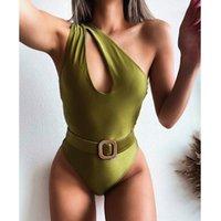 Sexy hueco fuera de una pieza traje de baño Mujer traje de baño Hombro Body Monokini Black Bathing Traje Beachwear Europeo y Estilo Americano