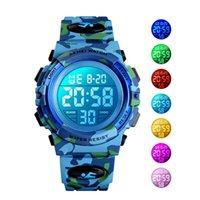 Militärische Kinder Sportuhren 50m Wasserdichte Elektronische Armbanduhr Haltestelle Uhr Uhr Kinder Digitaluhr für Jungen Mädchen 639