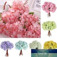 Gros- 1 bouquet Artisanat artificielle Parti Hydrangea mariage nuptiale de fleurs en plastique Décor 6NDQ