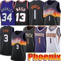 Chris 3 Paul Jersey Devin 1 Booker Jerseys Retro Steve Charles Nash Barkley Jersey Phoenixs Jerseys 2021 Uniforme da cidade