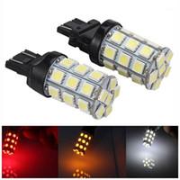 أضواء الطوارئ 2PCS سيارة LED عكس الضوء T20 7440 7443 27SMD مشرق بدوره سانجال عودة قبالة الفرامل ذيل وقوف السيارات 1