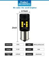 10pcs 무료 배송 1156 자동 LED 브레이크 조명 3030 LED 6500K 자동차 턴 신호 반전 조명 BMW E60 F30 골프 7 4 포커스 2
