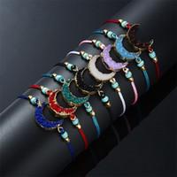 Handgemachte Webart Armband Schmuck Mode Harz Mond Nachahmung Naturstein Einstellbare Multi Farbe Kette Armbänder Heißer Verkauf 2GM K2B