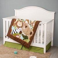 Brown Baby Beding Set Infant Bambino Bambino Bambino Juego de Cuna Biancheria da letto Biancheria da letto ,, Lenzuolo, Quilt da culla, Polvere BRUCK LJ201105