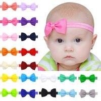 도매 - 20pcs / 로트 아기 소녀 작은 나비 넥타이 머리띠 DIY Grosgrain 리본 활 유아 유아 헤어 액세서리에 대 한 탄성 머리 밴드 298 K2