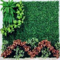 인공 암호화 플라스틱 잔디 매트 시뮬레이션 가짜 식물 잔디 25 x 25cm 홈 정원 장식을위한 잔디