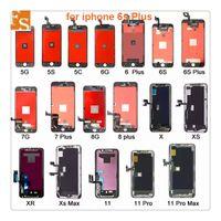 Tam Set Montaj Ekranı iPhone 6 S 7 7 Artı 8 8 Artı LCD 3D Dokunmatik Sayısallaştırıcı Montaj Ekranı Değiştirme Yok Ölü Piksel