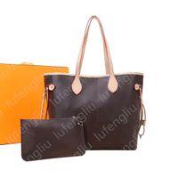 6 couleurs Lattice 2pcs Set Top Quality Women Pu en cuir Sac à main Sac à main pour femme Designer Sac à main Haute Qualité Dame Porte-monnaie Rétro épaule