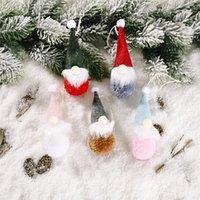 Ciondolo della decorazione degli alberi di Natale pendente pendente della bambola creativo carino piccola foresta anziana pendente della bambola anziana per la decorazione della casa