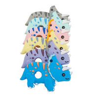BPA سيليكون الحرة ترايسيراتوبس حلقات التسنين الحسية مضغ هوة DIY الطفل قلادة التسنين مضغ اللعب