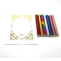 5m x 1 rolo hot stamping papel folha de papel folha de ouro por impressora a laser e laminador Toner Foil reativo, fo jllqgk