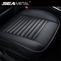 Asientos de Piel coche cubre asientos Protector Universal Car Cushion Automóviles interiores asiento de la silla de la cubierta cuatro estaciones Mat accesorios