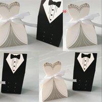 Bride et mariée robe complète Box Candy Style européen Marry Boîtes Sweet Boxes Favoris De Mariage Fête Cadeau Hot Sale 0 14WO UU