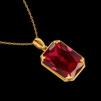 100% Real 925 Sterling Silver Ruby Pingente de Prata 925 Jóias Nova Trendy Luxo 14K Pingentes de Ouro para Mulheres Partido Presente de Natal 1027