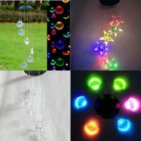 LED energía solar windbell lámparas decoloración shell jardín decoración viento chimenes luz caliente vendiendo con alta calidad 24ja J1