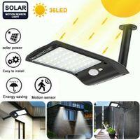 36 LED-Solarwandleuchte IP65 Straßenlaterne Automatische Lichtsensoren Dämmerungs Außenhof wasserdichte Bewegungs-Sensor Gartenleuchte