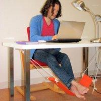 Tragbare Büro Freizeit Home Büro Fußstütze Schreibtisch Füße Hängematte Surfen des Internet-Hobbys Outdoor Rest Dropshipping1