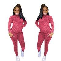 Autunno New Fashion Slim Fit Solid Color Sport Sport Two Piece Set Casual O-Neck T-shirt manica lunga e pantaloni da donna