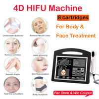 المهنية 3D 4D HIFU 12 خطوط عالية كثافة التركيز الموجات فوق الصوتية HIFU الوجه رفع آلة إزالة التجاعيد مع 2 خراطيش HIFU