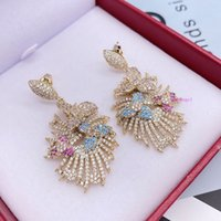 French luxury flowers exaggeration earrings light luxury ann...