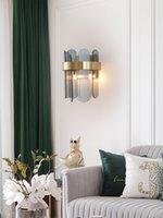 Nordic LED Postmoderne Wandleuchten Glas Bewerben Sie sich für Wohnzimmer Schlafzimmer Nachtstudy Wandleuchte Einfache Luxus-Kreativer Sconce-Lampe