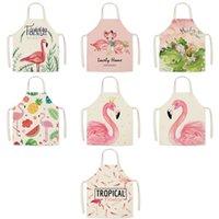 Flamingo Pattern Cucina Grembiuli Donna Donna Adulto Biancheria Bibs Cooking Cooking BBQ Grembiule Grembiule Pulizia Accessorio