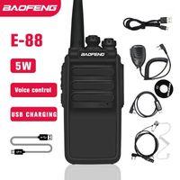 Walkie Talkie Actualizar BF-888S BAOFENG 5W BF-E88 MINI HAM CB Radio USB Cargador rápido UHF 400-470MHZ Transceptor BF888S BF-999S1