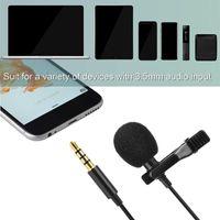 Microfoni Microfoni 3.5mm Jack Microfono Lavalier a risvolto cravatta clip-on MIC TRRS all'Adattatore TRS Set USB riunione ricaricabile