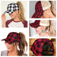 Buffalo Plaid Criss-Cross Cross Srow Out Baseball Cappellino da donna Tartan Grids Arcobaleno a strisce Ball Hat Design Zaino Mesh Visiera VISOR HEADWET E102802