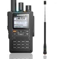 Walkie Talkie Abbree AR-F8 GPS الموقع تبادل جميع العصابات (136-520MHz) كشف التردد / CTCSS إضافة AR-775 Antenna1