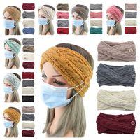 С кнопками маски для лица оголовье женщины вязаные шерстяные волосы обертывают лук крест для волос 230 цветов зимние шансы шляпы потовые полосы пота E121707