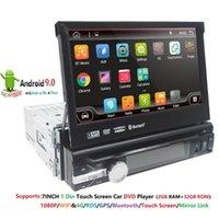 """Lecteur DVD de voiture """"2Gramauto Stéréo audio Carradio GPS Navigation Bluetooth 1Din HD 7inch moniteur à écran tactile rétractable MP4 SD FM USB Playe"""