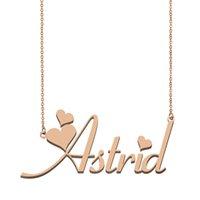 Colar conhecida Astrid personalizado Pendant personalizadas para homens meninos presente de aniversário dos melhores amigos Jóias de ouro 18K Aço inoxidável