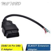 OBD2 16Pin conector de plugue masculino para Elm327 Adaptador de Extensão OBD OBDII EOBD OBDB2 16 Pin OBD 2 Adaptador Abertura Feminino Cabo1
